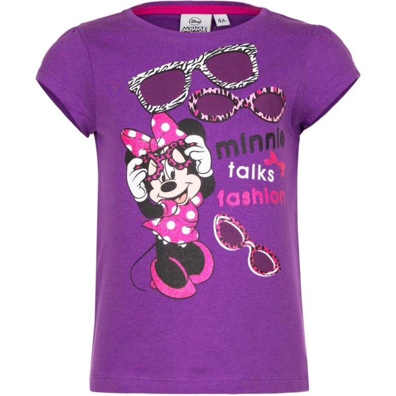 Minnie Mouse t shirt paars voor meisjes Disney Geweldig