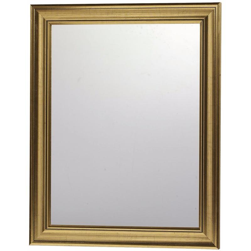 Modere wandspiegel met gouden lijst 30 x 40 cm