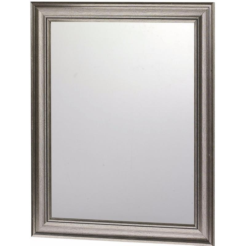 Moderne wandspiegel met antraciet lijst 30 x 40 cm