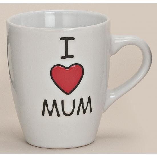 Mok I love mum wit 10 cm