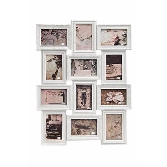 Collage fotolijst barok. een witte fotolijst waar je 12 foto's in kunt doen. de fotolijst is geschikt voor ...