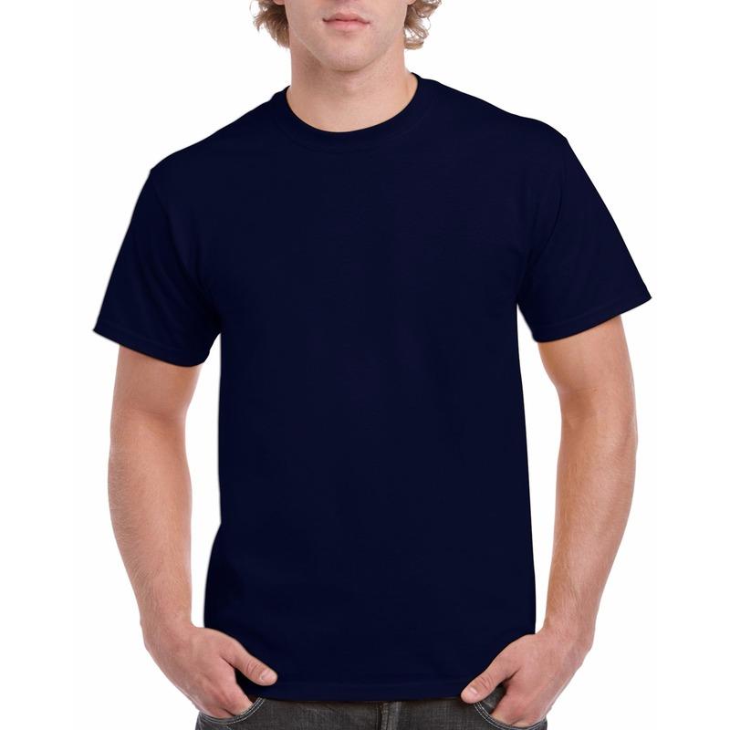 T shirts en poloshirts Gildan Navy blauw katoenen shirt voor volwassenen
