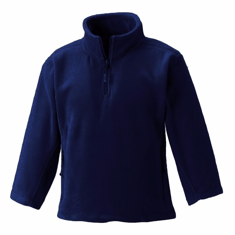 Truien en sweaters Fruit Of The Loom Navy blauwe fleece trui voor meisjes