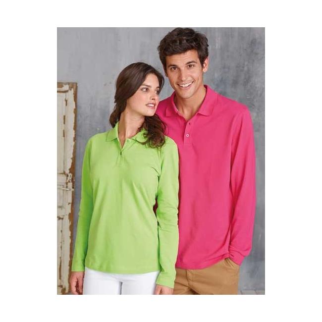 Neon poloshirt met lange mouwen Kariban T shirts en poloshirts