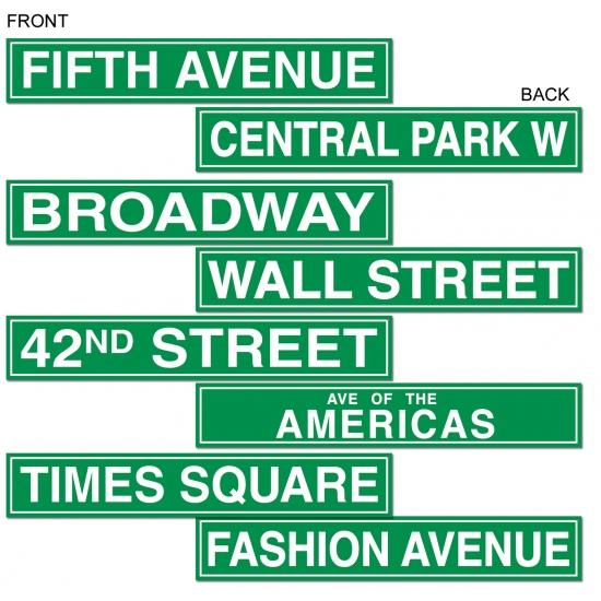 New York straatbord decoratie