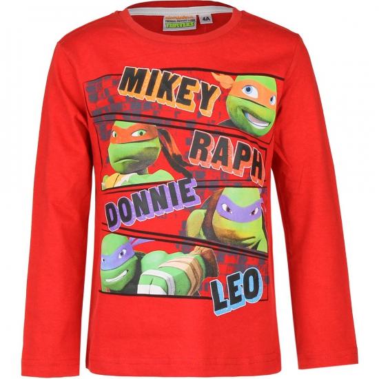 Ninja Turtles t shirt rood Ninja Turtles T shirts en poloshirts