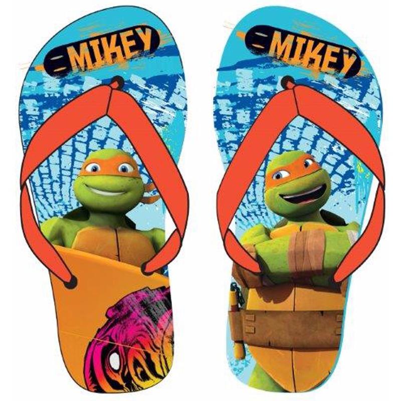 Schoenen en laarzen Ninja Turtles Ninja Turtles teenslippers lichtblauw oranje voor jongens
