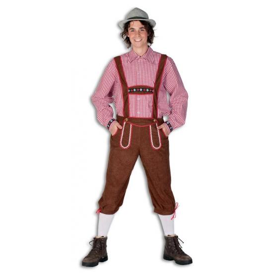 Oktoberfest - Lange bruine lederhose broek