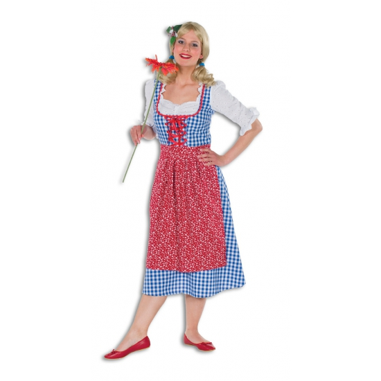 Oktoberfest - Lange tiroler jurk voor dames 38 (M) Multi