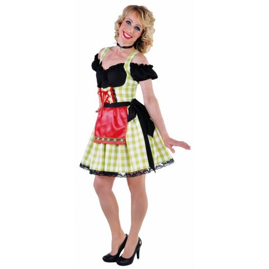 Oktoberfest - Luxe groene dirndl voor dames L Multi