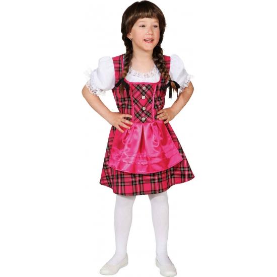 Oktoberfest - Roze Tirolerjurk voor meisjes