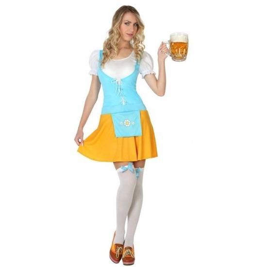 Geen Oktoberfest - Voordelig Oktoberfest verkleed jurkje voor dames M/L (38-40) Multi
