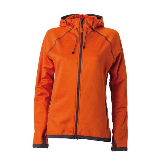 Truien en sweaters Oranje dames fleece jasje met capuchon