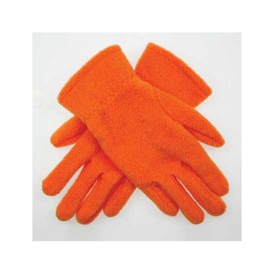 Kleding accessoires Oranje kinder fleece handschoenen