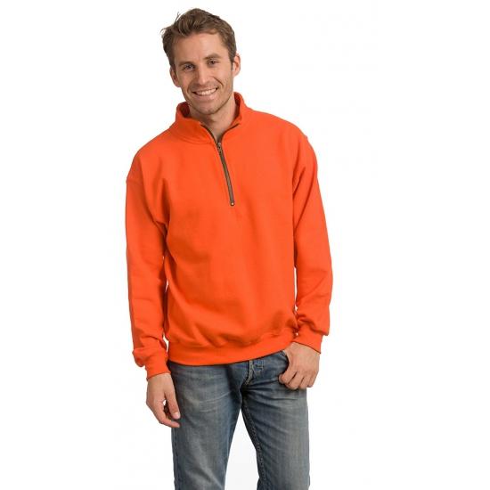 Oranje sweatshirt voor volwassenen Gildan Truien en sweaters