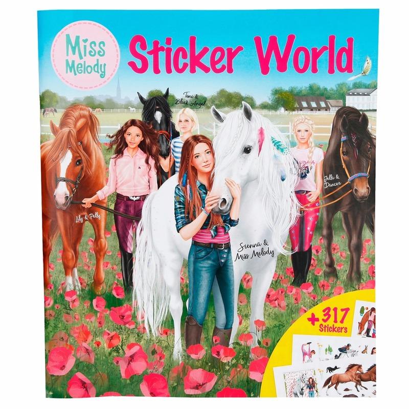 Paarden sticker en kleurboek Miss Melody
