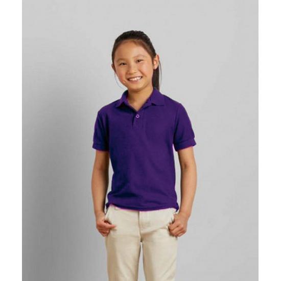 T shirts en poloshirts Gildan Paarse poloshirt voor meisjes