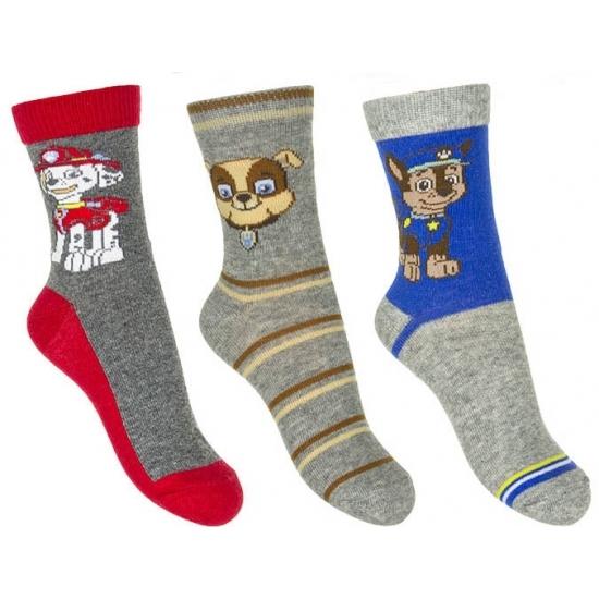 Paw Patrol jongens sokken 3 pak grijs Paw Patrol Sokken en Panty's