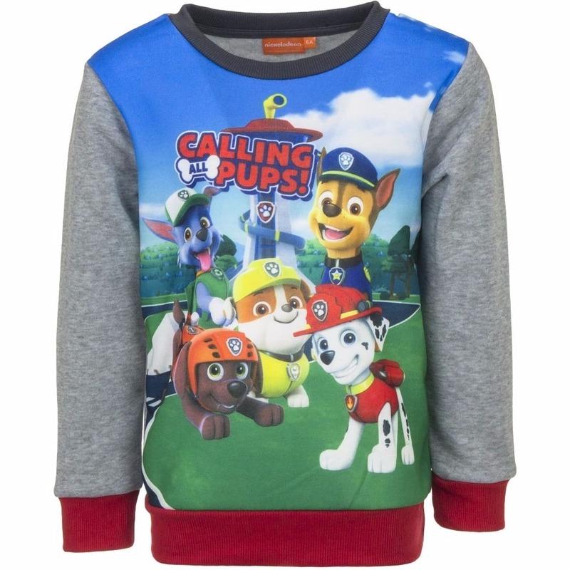 Paw Patrol jongens sweater met grijze mouwen Paw Patrol Truien en sweaters