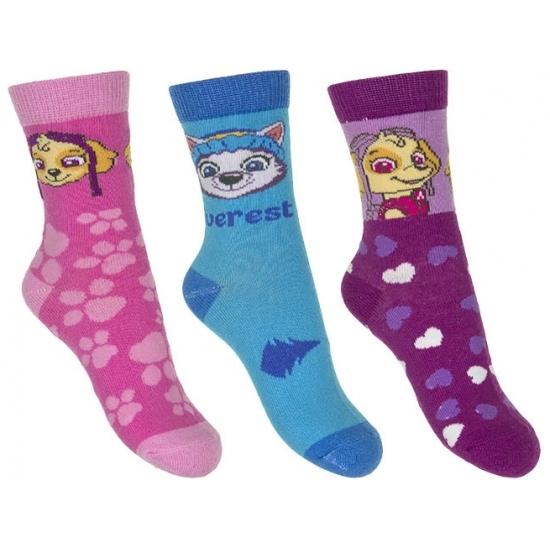 Paw Patrol Paw Patrol meisjes sokken 3 pak Skye Sokken en Panty's
