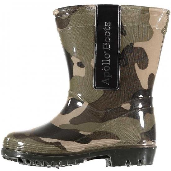 Schoenen en laarzen Bellatio Peuter regenlaarzen met camouflage print groen