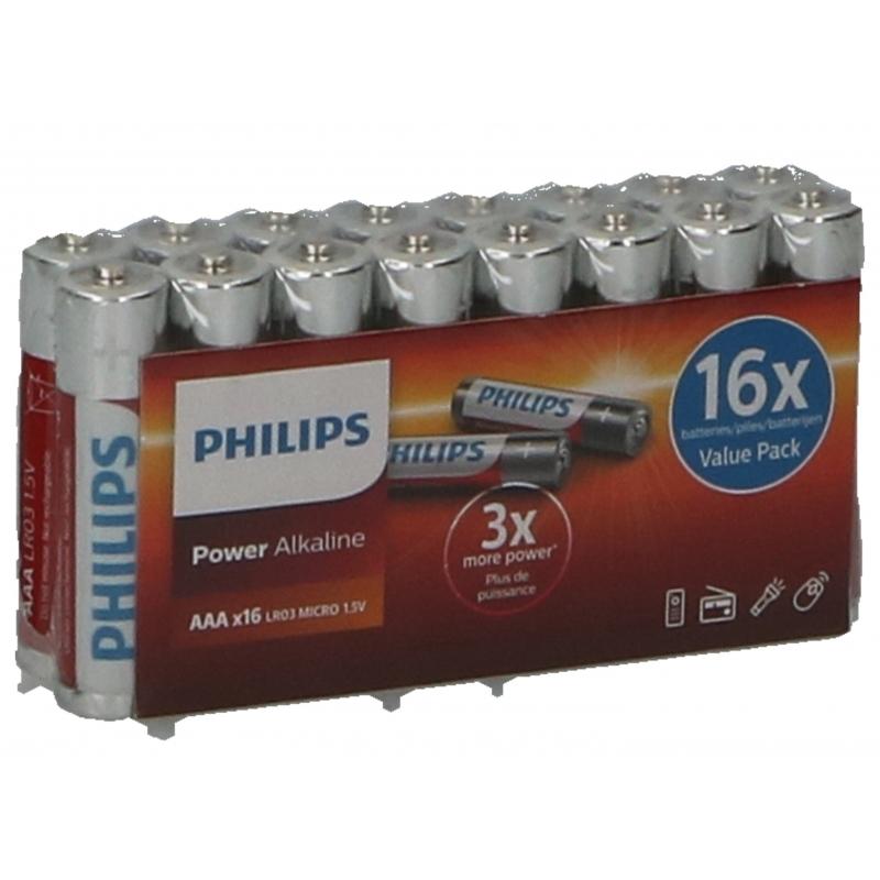 Philips LR03 AAA batterijen 16 stuks