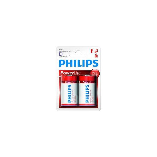 Philips LR20 D batterijen 2 stuks
