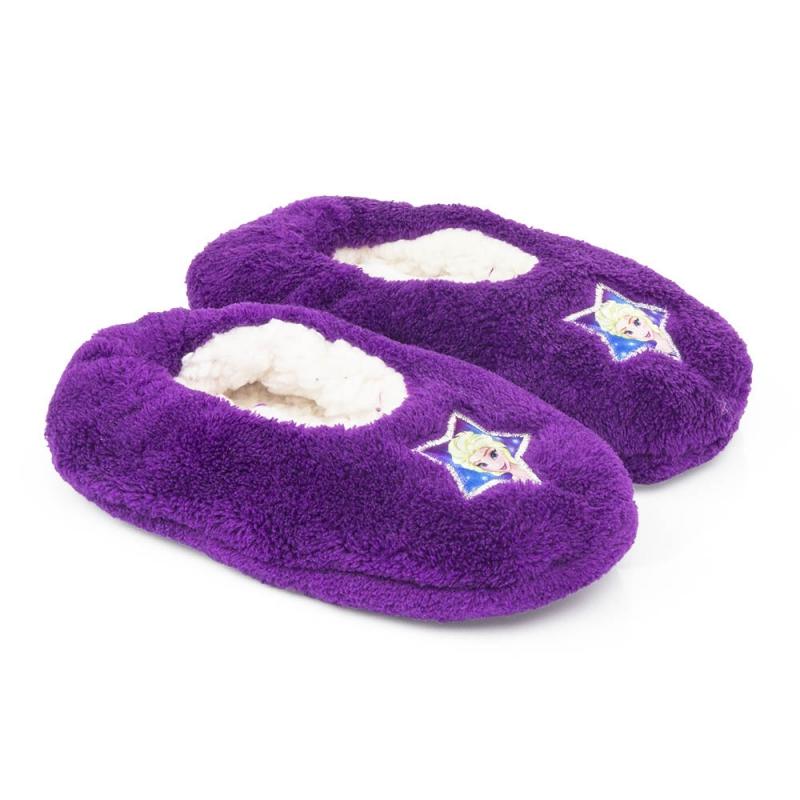 Sloffen en Pantoffels Pluche Frozen pantoffels paars