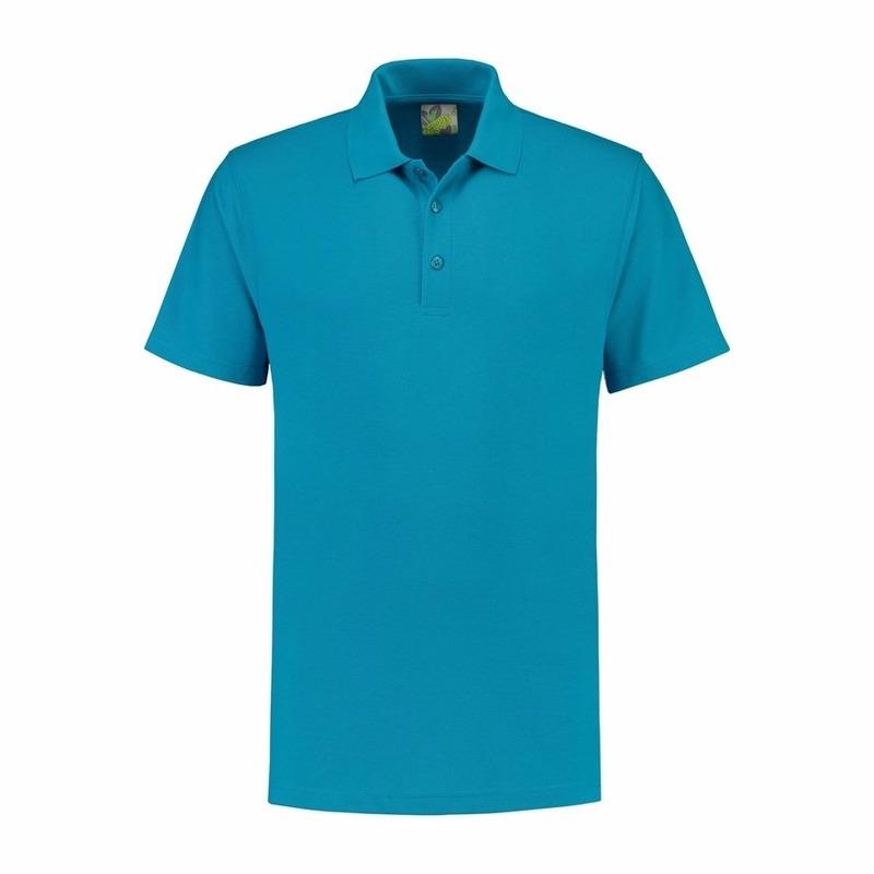 Lemon Soda Poloshirt heren turquoise T shirts en poloshirts