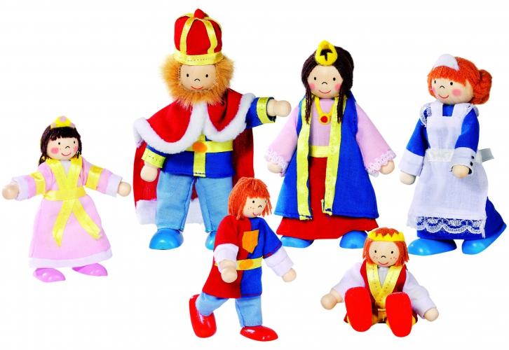 Poppenhuis poppen Koninklijke familie 6 stuks