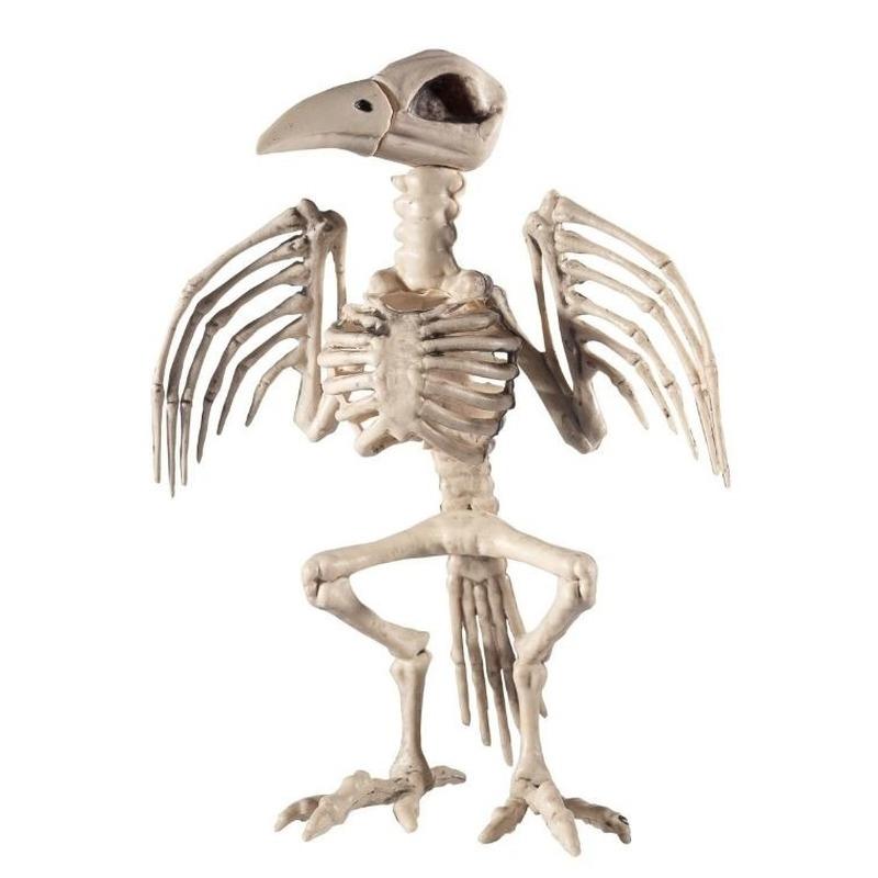 Raaf skelet halloween/horror decoratie 30 cm