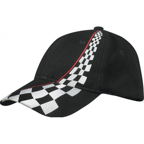 Racing baseballcap zwart
