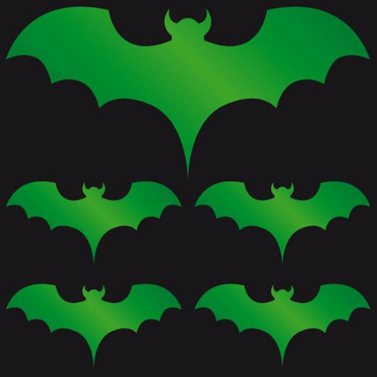 Reflecterende sticker groene vleermuis halloween accessoire