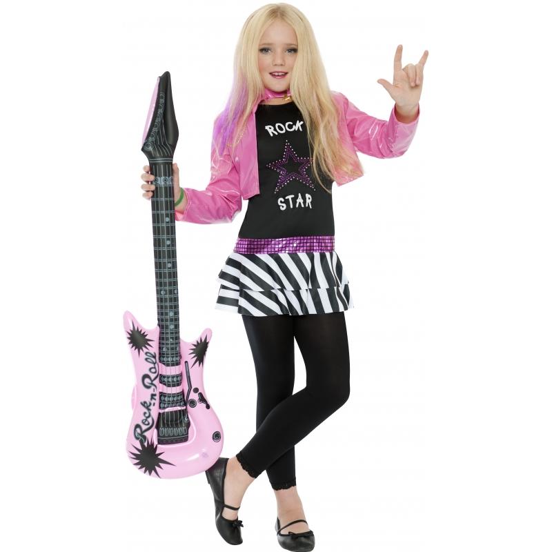 Rockstar kostuum voor meiden