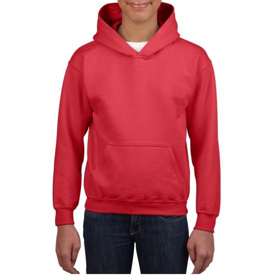 Gildan Rode capuchon sweater voor jongens Truien en sweaters