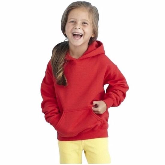 Truien en sweaters Gildan Rode capuchon sweater voor meisjes