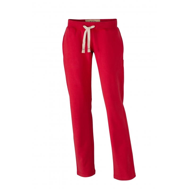 Rode dames joggingbroek vintage James Nicholson Beste kwaliteit