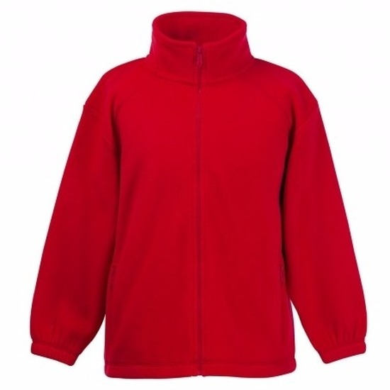 Rood fleece vest voor meisjes Fruit Of The Loom Truien en sweaters