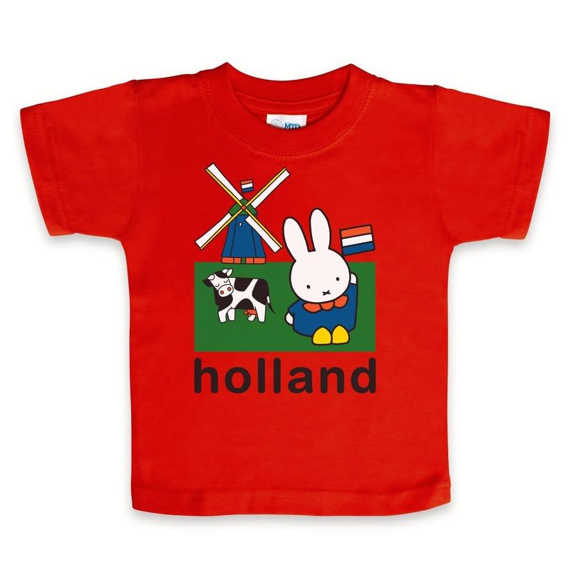 Rood Nijntje baby t shirt Holland Nijntje T shirts en poloshirts