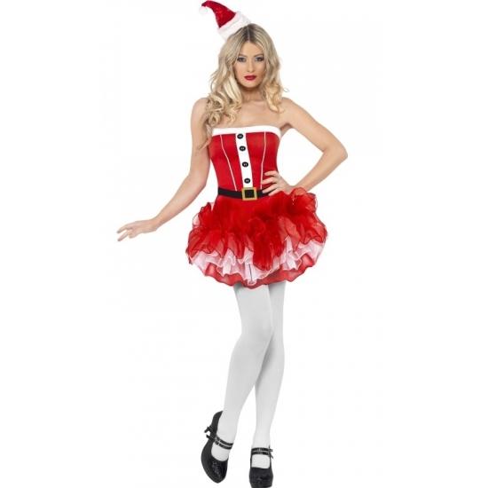 Rood tutu kerstjurkje voor dames