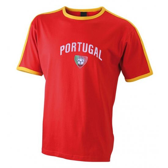 Landen versiering en vlaggen Shoppartners Rood voetbalshirt Portugal heren