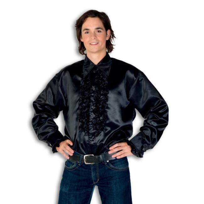 rouche-overhemd-voor-heren-zwart