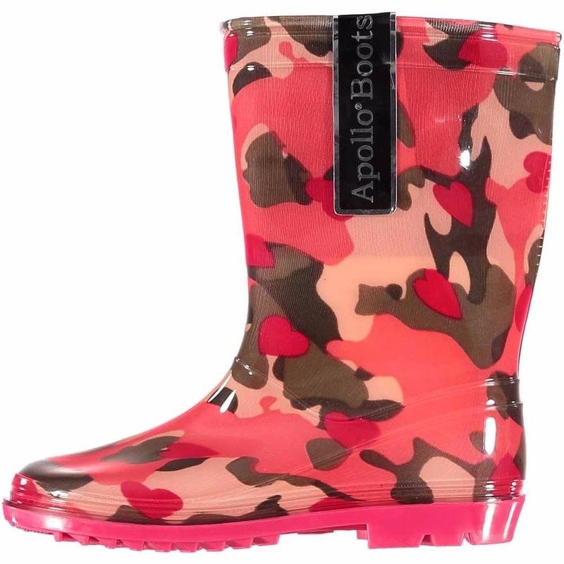 Roze camouflage meiden regenlaarzen Apollo goedkoop online kopen