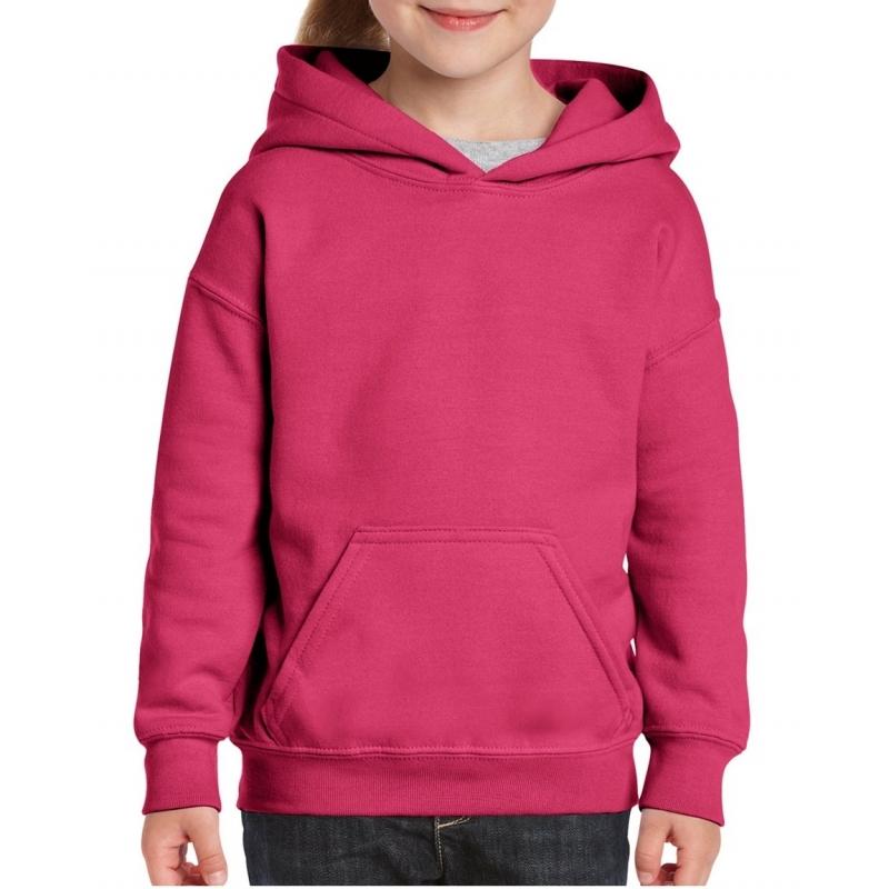 Truien en sweaters Gildan Roze capuchon sweater voor meisjes