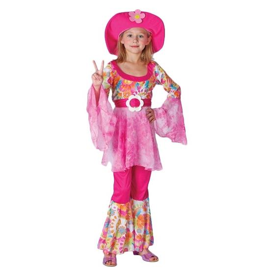 Roze hippie outfit voor meisjes