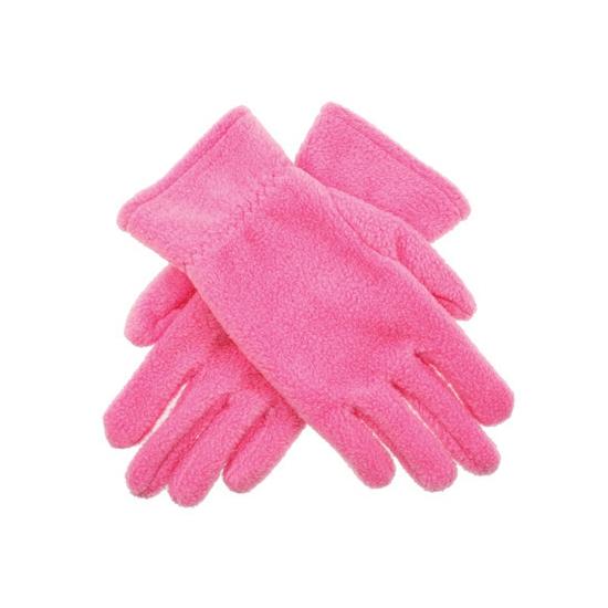 Bellatio Roze kinder fleece handschoenen Kleding accessoires