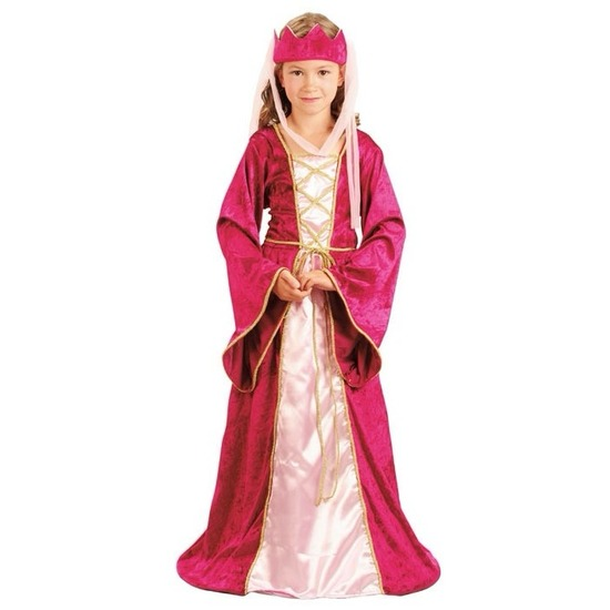 Roze prinsessen kostuum voor meisjes
