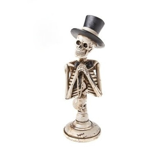 Skelet halloween decoratie beeldje 29 cm
