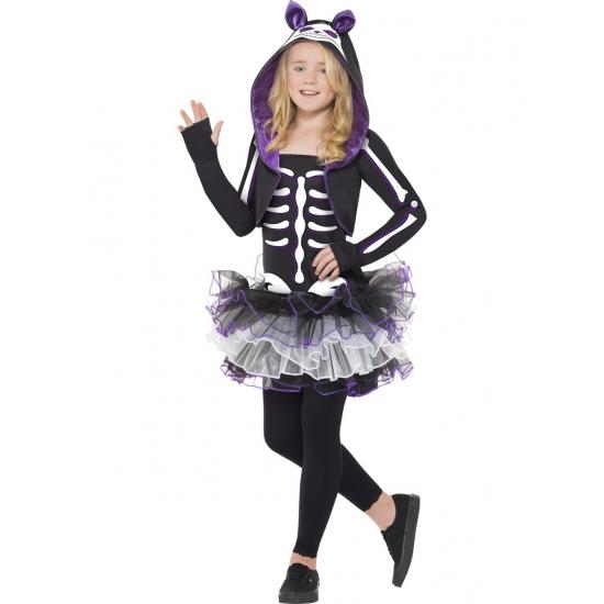 Skelet kat kostuum voor meisjes