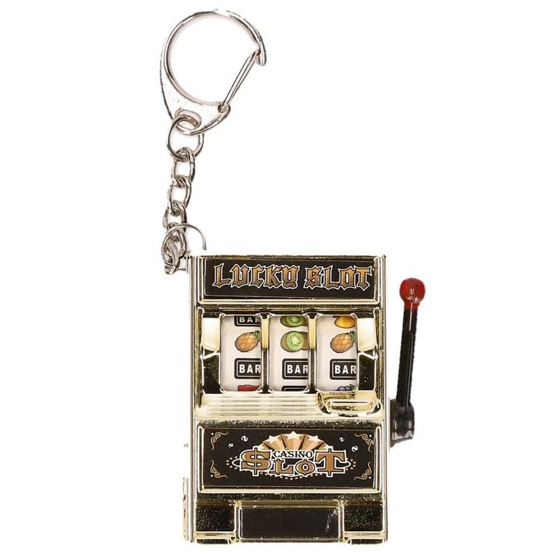 Sleutelhanger fruitmachine goud